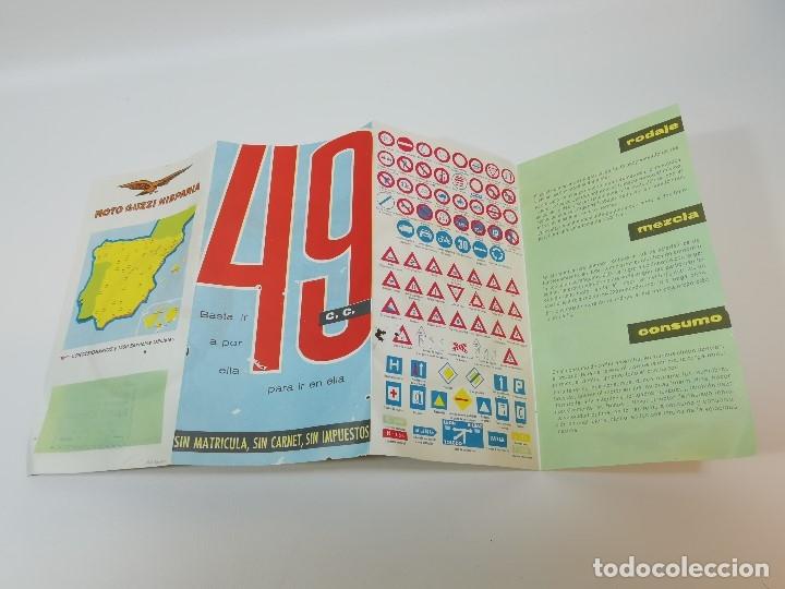 Coches y Motocicletas: folleto publicitario DESPLEGABLE PUBLICIDAD MOTO GUZZI HISPANIA 49 CONCESIONARIO REUS -REF-ZZ - Foto 11 - 181421852