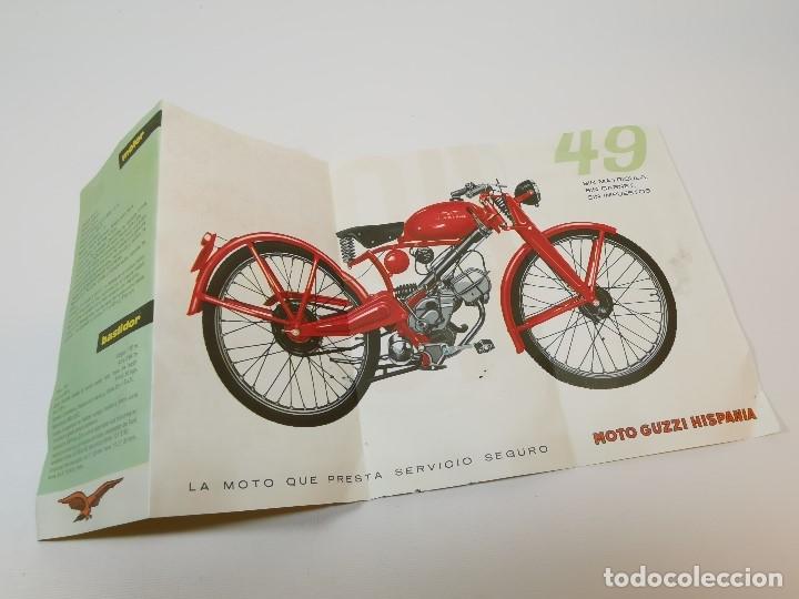 Coches y Motocicletas: folleto publicitario DESPLEGABLE PUBLICIDAD MOTO GUZZI HISPANIA 49 CONCESIONARIO REUS -REF-ZZ - Foto 12 - 181421852
