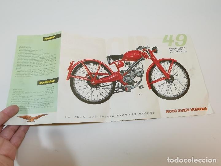 Coches y Motocicletas: folleto publicitario DESPLEGABLE PUBLICIDAD MOTO GUZZI HISPANIA 49 CONCESIONARIO REUS -REF-ZZ - Foto 2 - 181421852