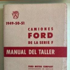 Coches y Motocicletas: FORD- CAMIONES- GRAN MANUAL DEL TALLER- AÑOS 1.949- 1.950 - 1.951. Lote 181576215
