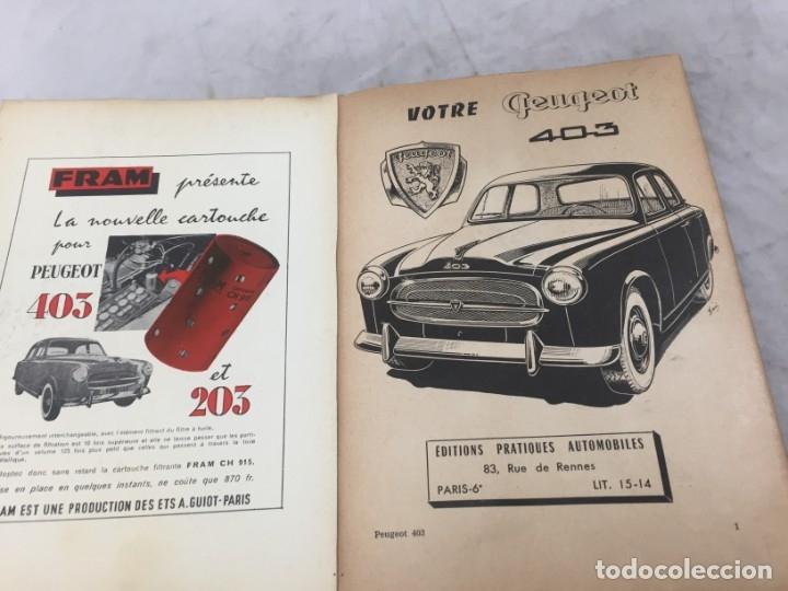 Coches y Motocicletas: MANUAL PEUGEOT 403 EN FRANCÉS ILUSTRADO CON LAMINA DESPLEGABLE - Foto 3 - 181672142