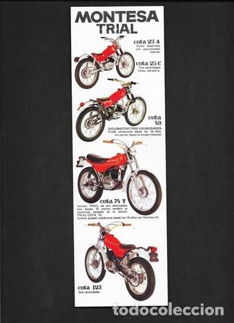 CICLOMOTORES Y MOTOCICLETAS MONTESA TRIAL (Coches y Motocicletas Antiguas y Clásicas - Catálogos, Publicidad y Libros de mecánica)