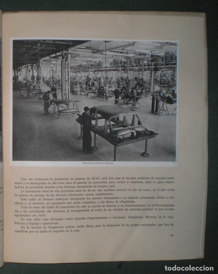 SEAT: SOCIEDAD ESPAÑOLA DE AUTOMOVILES DE TURISMO. MAYO 1953. LÁMINAS HAUSER Y MENET (Coches y Motocicletas Antiguas y Clásicas - Catálogos, Publicidad y Libros de mecánica)
