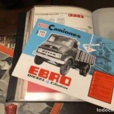 Coches y Motocicletas: ANTIGUO CATÁLOGO CAMIÓN EBRO SERIE C-550 AÑOS 60 TOTALMENTE ORIGINAL. Lote 182346313