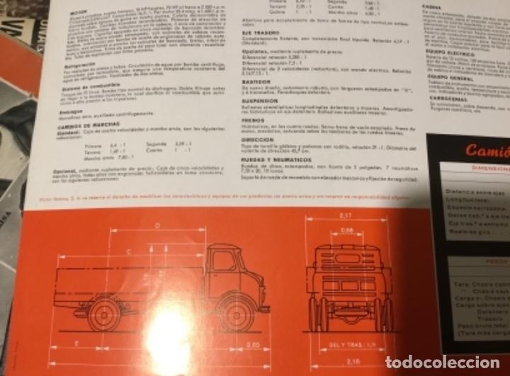 Coches y Motocicletas: Antiguo catálogo camión Ebro serie C-550 años 60 Totalmente original - Foto 5 - 182346313