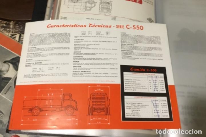 Coches y Motocicletas: Antiguo catálogo camión Ebro serie C-550 años 60 Totalmente original - Foto 8 - 182346313