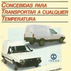 Coches y Motocicletas: IMESA SEAT IBIZA MÁLAGA FURGONETA Y PICK UP, DE LA CORUÑA, FOLLETO DOBLE CARA, EN ESPAÑOL. Lote 182362950