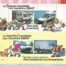 Coches y Motocicletas: IMESA SEAT IBIZA MÁLAGA FURGONETA Y PICK UP, DE LA CORUÑA, FOLLETO DOBLE CARA, EN ESPAÑOL 02. Lote 182363063