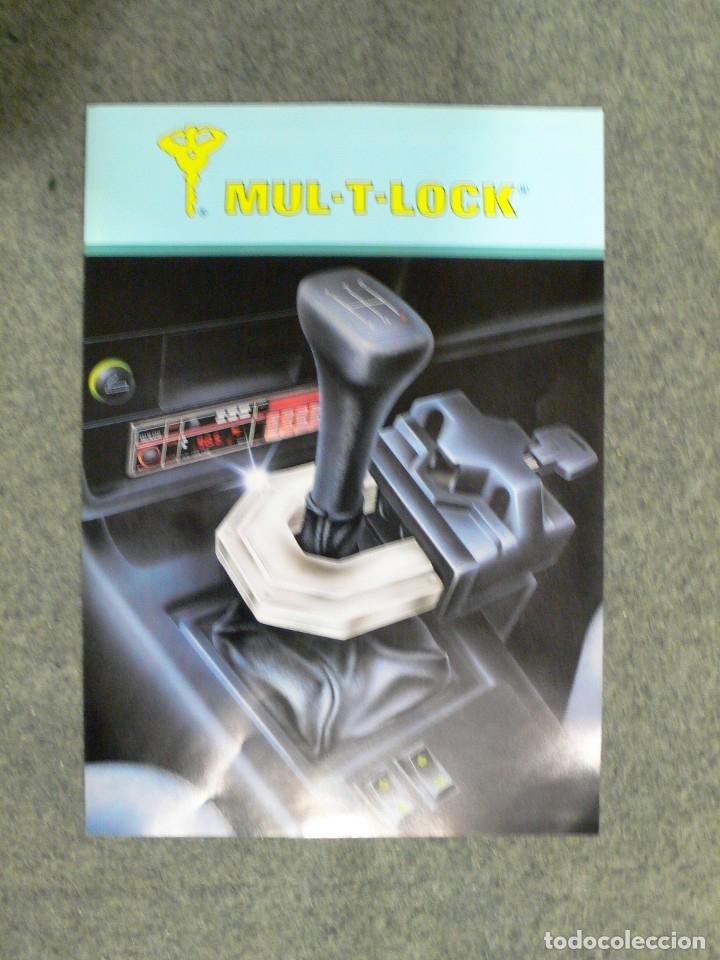 FOLLETO PUBLICIDAD MULT-T-LOCK (Coches y Motocicletas Antiguas y Clásicas - Catálogos, Publicidad y Libros de mecánica)