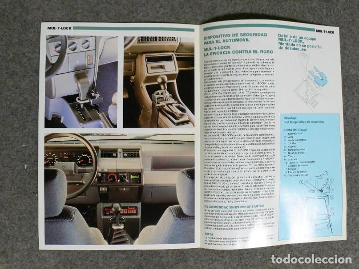 Coches y Motocicletas: FOLLETO PUBLICIDAD MULT-T-LOCK - Foto 3 - 182526375
