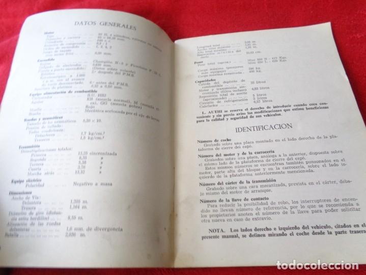 Coches y Motocicletas: MINI 850 - MANUAL DEL CONDUCTOR - BRITHISH LEYLAND AUTHI -AÑO 1972 - Foto 6 - 182670332
