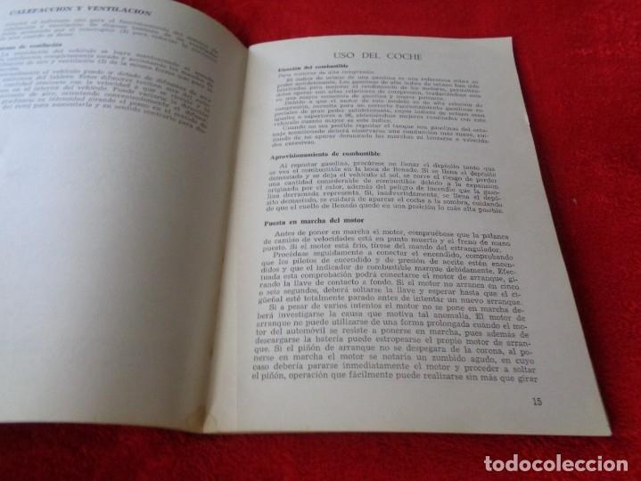 Coches y Motocicletas: MINI 850 - MANUAL DEL CONDUCTOR - BRITHISH LEYLAND AUTHI -AÑO 1972 - Foto 9 - 182670332
