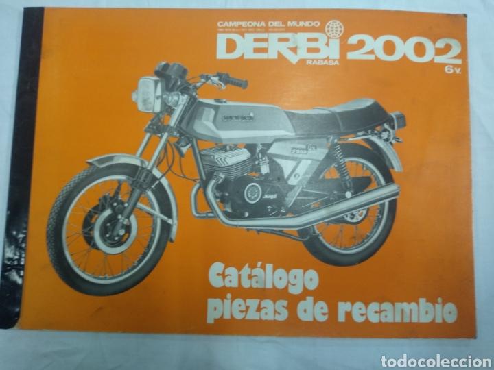 CATÁLOGO PIEZAS RECAMBIO DERBI 2002 (Coches y Motocicletas Antiguas y Clásicas - Catálogos, Publicidad y Libros de mecánica)
