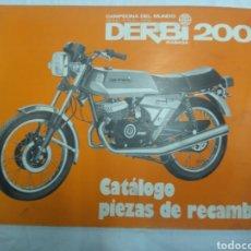 Coches y Motocicletas: CATÁLOGO PIEZAS RECAMBIO DERBI 2002. Lote 183087471