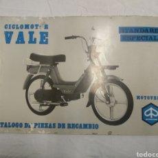 Coches y Motocicletas: CATÁLOGO PIEZAS DE RECAMBIO CICLOMOTOR VALE MOTO VESPA. Lote 183088821