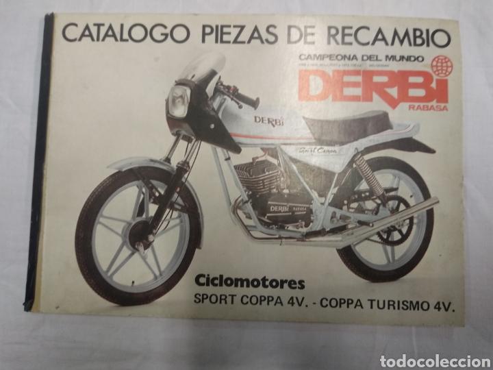 CATÁLOGO PIEZAS DE RECAMBIO DERBI RABASA (Coches y Motocicletas Antiguas y Clásicas - Catálogos, Publicidad y Libros de mecánica)