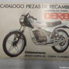 Coches y Motocicletas: CATÁLOGO PIEZAS DE RECAMBIO DERBI RABASA. Lote 183089497