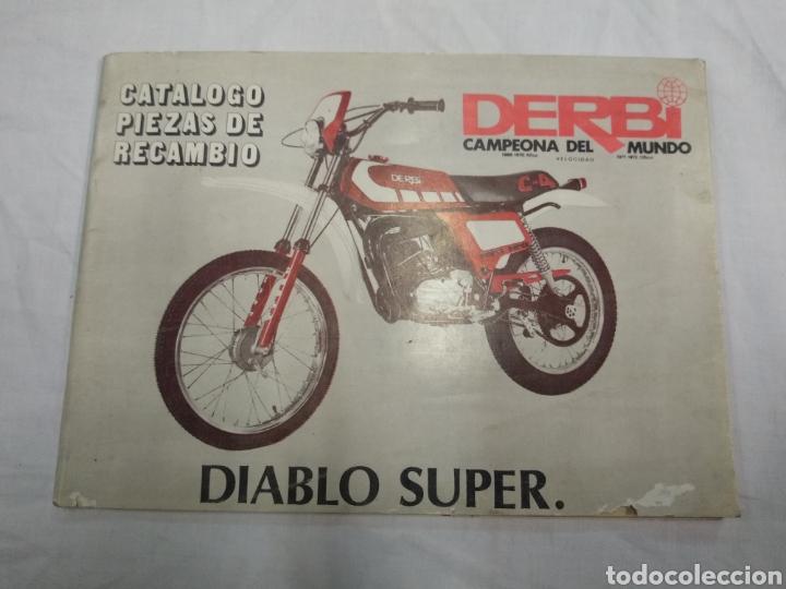 CATÁLOGO PIEZAS DE RECAMBIO DERBI DIABLO SÚPER (Coches y Motocicletas Antiguas y Clásicas - Catálogos, Publicidad y Libros de mecánica)