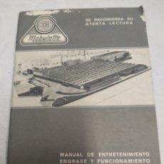 Coches y Motocicletas: MANUAL DE ENTRETENIMIENTO Y FUNCIONAMIENTO MOBYLETTE. Lote 183176128