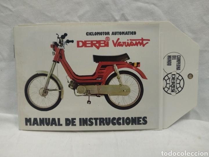 MANUAL DE INSTRUCCIONES DERBI VARIANT (Coches y Motocicletas Antiguas y Clásicas - Catálogos, Publicidad y Libros de mecánica)