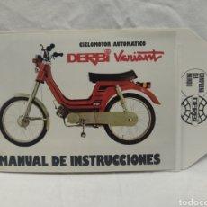 Coches y Motocicletas: MANUAL DE INSTRUCCIONES DERBI VARIANT. Lote 207668290