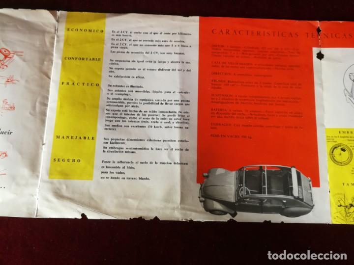 Coches y Motocicletas: Catálogo Citroën 2 CV tracción delantera 1958 - Foto 4 - 183370537