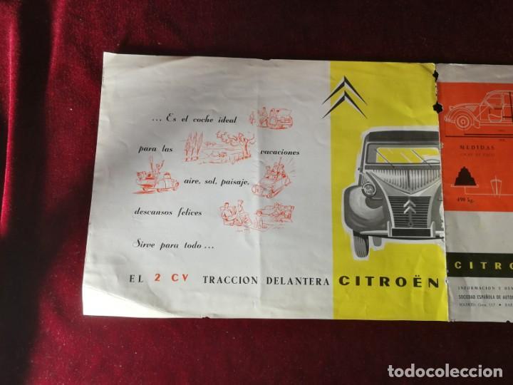 Coches y Motocicletas: Catálogo Citroën 2 CV tracción delantera 1958 - Foto 7 - 183370537