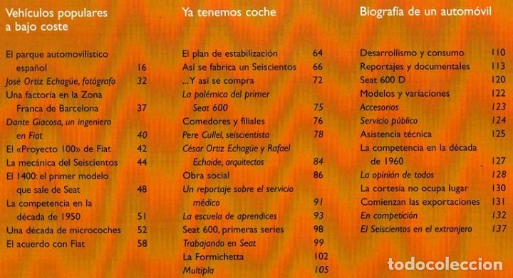 Coches y Motocicletas: SEAT 600. ATLAS ILUSTRADO. JOSE FELIU. PROLOGO ANTONIO LOBATO. - Foto 7 - 183389203