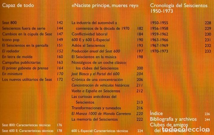 Coches y Motocicletas: SEAT 600. ATLAS ILUSTRADO. JOSE FELIU. PROLOGO ANTONIO LOBATO. - Foto 8 - 183389203
