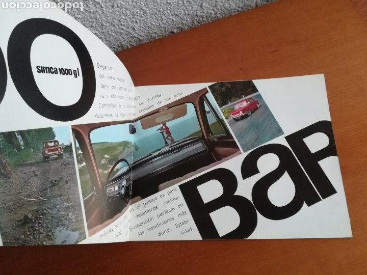 Coches y Motocicletas: Catálogo Simca 1000 Barreiros año 1966 con Marisol al volante - Diseño Vintage - Pepa Flores - Motor - Foto 8 - 183423441