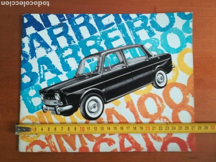 Coches y Motocicletas: Catálogo Simca 1000 Barreiros año 1966 con Marisol al volante - Diseño Vintage - Pepa Flores - Motor - Foto 16 - 183423441