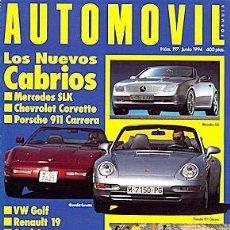 Coches y Motocicletas: AUTOMOVIL Nº 197 JUNIO 1994 CHEVROLET CORVETTE PORSCHE 911. Lote 183455913