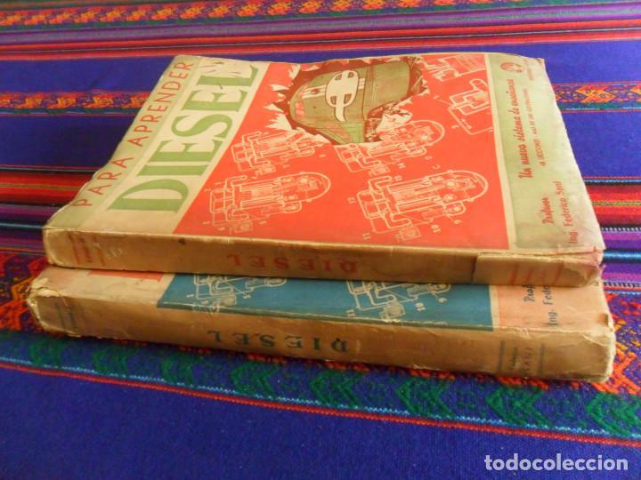 Coches y Motocicletas: PARA APRENDER DIESEL TOMO I Y TOMO II. EDITORIAL HOBBY 1946 1947. POR FEDERICO SANI. MUY RAROS. - Foto 2 - 183693470