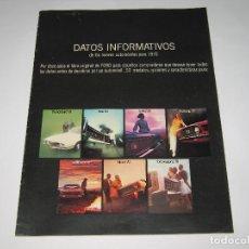 Coches y Motocicletas: CATALOGO GAMMA FORD - DATOS INFORMATIVOS 1970 - IMPRESO EN USA EN 1969, 15 PÁG., 27.5X21 CM.. Lote 183916217