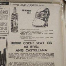 Coches y Motocicletas: SEAT 133 Y ANIS CASTELLANA. PUBLICIDAD.. Lote 25856709