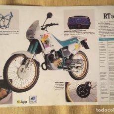 Coches y Motocicletas: LÁMINA CATÁLOGO GILERA RT. Lote 184477296