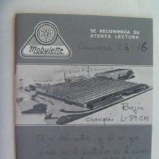 Coches y Motocicletas: MANUAL DE ENTRETENIMIENTO, ENGRASE Y FUNCIONAMIENTO DEL CICLOMOTOR MOBYLETTE . VITORIA, 1980. Lote 184759196