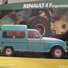 Coches y Motocicletas: RENAULT 4 FURGONETAS. Lote 184857733