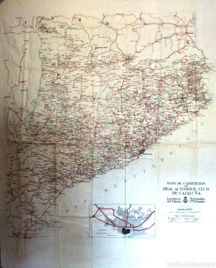 MAPA DE CARRETERAS DE CATALUÑA RACC 1930 (Coches y Motocicletas Antiguas y Clásicas - Catálogos, Publicidad y Libros de mecánica)