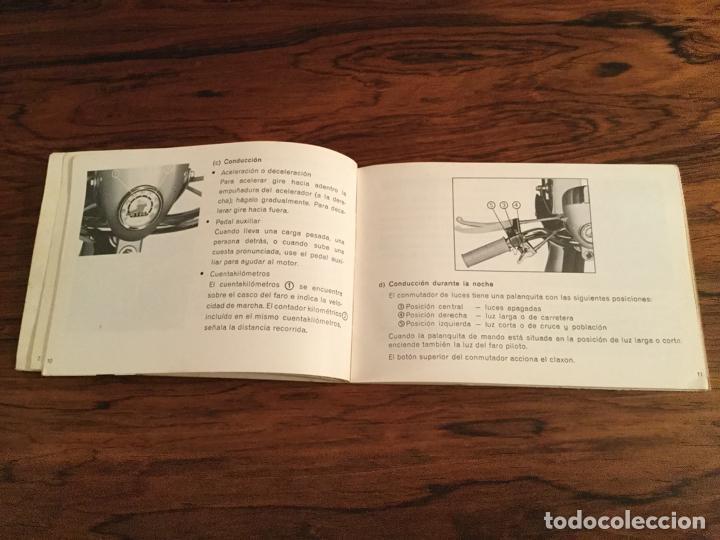 Coches y Motocicletas: CATALOGO USO Y ENTRETENIMIENTO Ciclomotor Honda PC 50 Serveta ANTES LAMBRETTA. 1969 - Foto 4 - 185988253