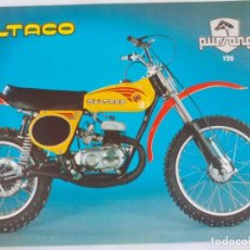 Coches y Motocicletas: FOLLETO BULTACO PURSANG 125. Lote 186047358
