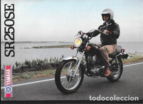 CATALOGO ORIGINAL YAMAHA SR 250 SE (Coches y Motocicletas Antiguas y Clásicas - Catálogos, Publicidad y Libros de mecánica)