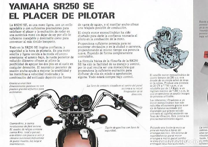 Coches y Motocicletas: CATALOGO ORIGINAL YAMAHA SR 250 SE - Foto 2 - 186087156