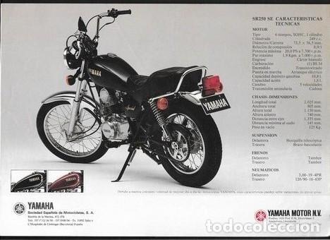 Coches y Motocicletas: CATALOGO ORIGINAL YAMAHA SR 250 SE - Foto 3 - 186087156