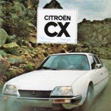 Coches y Motocicletas: CITROEN CX CATALOGO TECNICO ORIGINAL. Lote 189358216