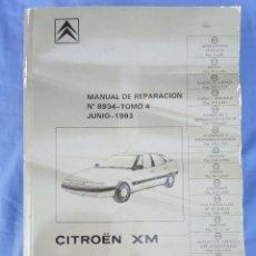 Automobili e Motociclette: CITROËN XM. MANUAL DE REPARACIÓN 8934, TOMO 4. ELECTRICIDAD. JUNIO 1993. 831 PÁG.. Lote 189372923