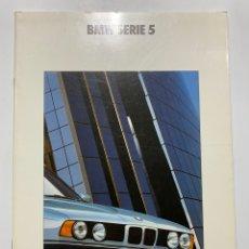 Coches y Motocicletas: CATÁLOGO FOLLETO PUBLICIDAD BMW SERIE 5 DE 1991. Lote 189427778