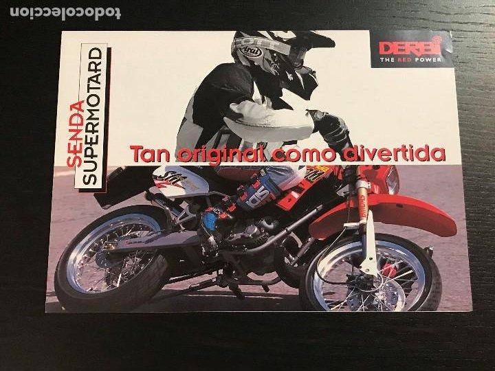 DERBI SENDA SUPERMOTARD - CATALOGO FOLLETO PUBLICIDAD ORIGINAL ESPAÑOL 1998 (Coches y Motocicletas Antiguas y Clásicas - Catálogos, Publicidad y Libros de mecánica)