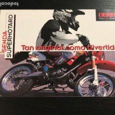 Coches y Motocicletas: DERBI SENDA SUPERMOTARD - CATALOGO FOLLETO PUBLICIDAD ORIGINAL ESPAÑOL 1998. Lote 189525503