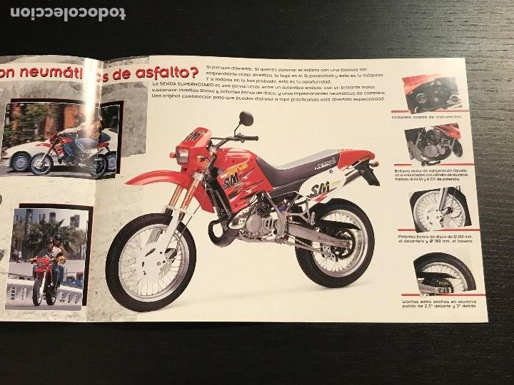 Coches y Motocicletas: DERBI SENDA SUPERMOTARD - CATALOGO FOLLETO PUBLICIDAD ORIGINAL ESPAÑOL 1998 - Foto 2 - 189525503